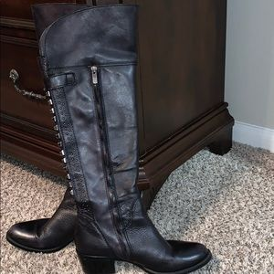 Vince Camuto distressed studded boots